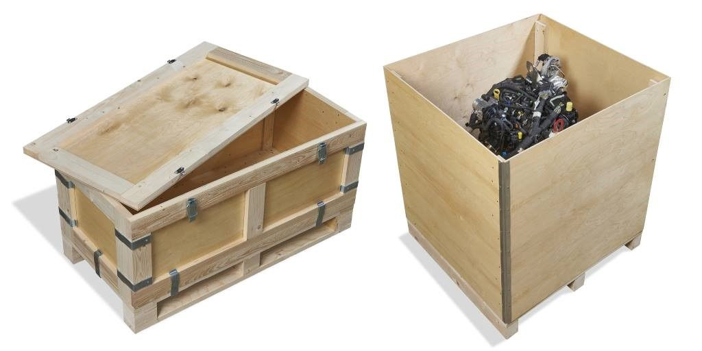 Export packaging protects with rivets