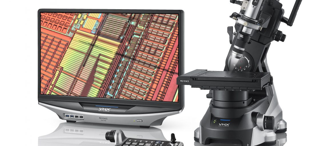 Microscope from Keyence measures in 2D and 3D