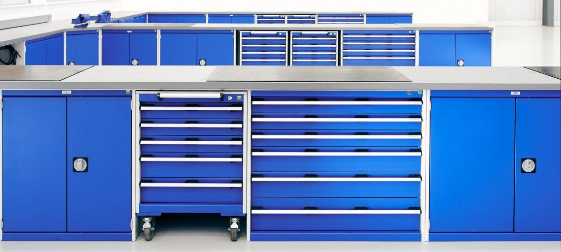 Workplace storage versatility with Bott
